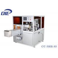 Rotary Table Pad Printing Equipment / One Color Servo Driven Pad Press Machine