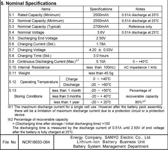 Panasonic Ncr18650d 2700mah 3 7v Rechargeable Li Ion