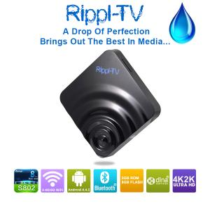 China Android Full HD TV Box 100% Original Rippl-TV Android 4.4 Android TV Box Internet TV Set Top box on sale