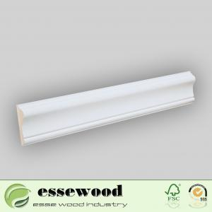 China White Gesso Coated and Primed MDF Crown Moulding Ceiling Cornice Moulding on sale