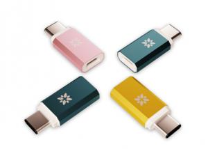 China Colorful USB To USB C Adapter , Fast Charging USB 3.1 Type C Cable Resistor on sale