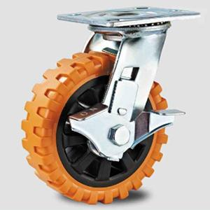 China Heavy duty caster , swivel orange PVC caster wheel,transfer facility caster on sale