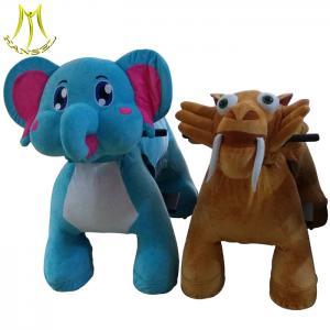 China Hansel amusement park outdoor plush electronic animal riding toys for sale on sale