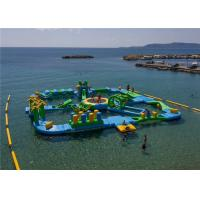 0.9mm PVC Tarpaulin Funny Water Games / Adult Inflatable Floating water Park 3 Years Warranty