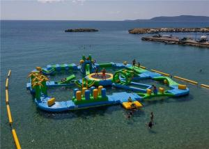 China 0.9mm PVC Tarpaulin Funny Water Games / Adult Inflatable Floating water Park 3 Years Warranty on sale