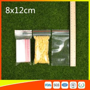 Quality Ldpe Plastic  Reusable Ziplock Bags 8x12 cm With Colorful Line for sale