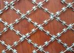 Easily Assemble Security Barbed Wire , 0.5mm Thickness Stainless Steel Razor Wire