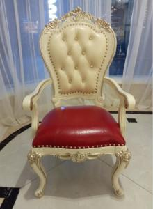 China Crooked Legs Classic French Furniture / French Look Furniture Red Color Seat on sale