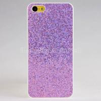 2013  fashion and new  Glitter Design Colorful Plastic Hard Case For iPhone 5C