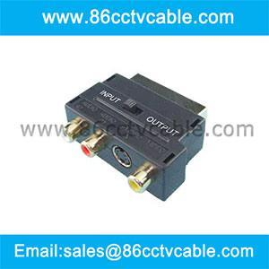China SCART to RCA converter, SCART to RCA Adapter on sale
