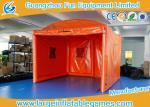 China Orange Oxford Outside Small Inflatable Bubble Tent For Party / Event wholesale