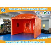 Orange Oxford Outside Small Inflatable Bubble Tent For Party / Event