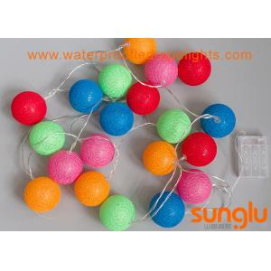 China 3.3 Meter Mini LED String Lights Ball Shape Cotton Ball For Festival Party Decoration on sale