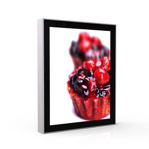 China Digital Led Photo Frame Light Box , Glass Advertising Restaurant Menu Light Box on sale
