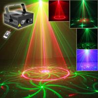 China 24 Gobos Red+green Mini Laser Lights Projector with Blue LED (2 hole) on sale