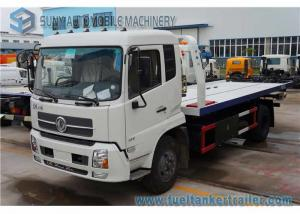 China Dongfeng Tianjin 6 Ton Rescue Tow Truck , flatbed Wrecker Truck 180 Hp Cummins Engine on sale