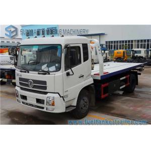 China Dongfeng Tianjin 6 Ton Rescue Tow Truck , flatbedWrecker Truck 180 Hp Cummins Engine on sale