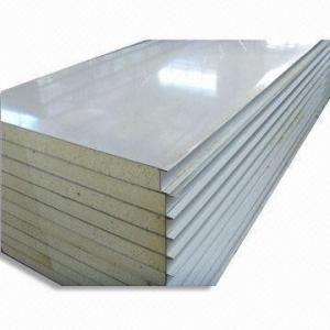 China Construction structural Insulated roof panels , polyurethane sandwich panel 30 - 120mm on sale