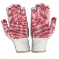 China Los guantes punteados PVC del algodón, PVC puntearon guantes on sale