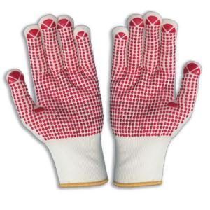 China Les gants de coton pointillés par PVC, PVC ont pointillé des gants on sale