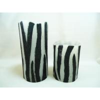 Zebra Print Battery Operated Flameless LED Blow on-off Candles