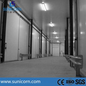 China PU Panel Assembling Commercial Cold Room Warehouse Food Trading Center on sale
