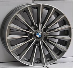 China BMW replica wheels car rims 18 inch 120(mm)PCD rough silver machined face alloy wheel on sale