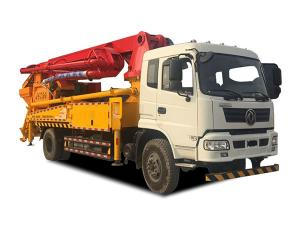 China Concrete Pumping & mixing truck 30m max placing reach pump truck with mixer machine on sale