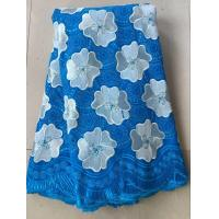 Light blue china swiss voile lace sunflower cotton special swiss voile dry lace for clothes