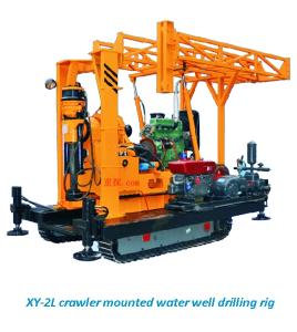 China XY-2L crawler mounted water well drilling rig on sale