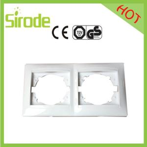 China Double Gang Switch Socket Plate White 9206 Style on sale