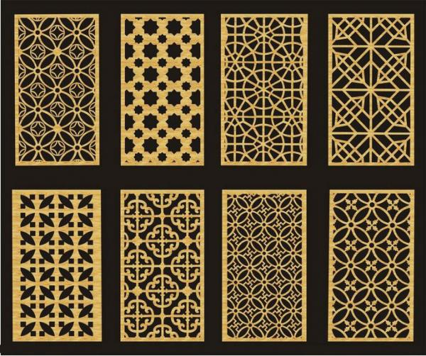 Customized carved mdf diy room divider panels for interior