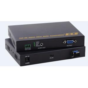 China Single Mode Single Fiber VGA Fiber Optic Extender , Digital Optical Cable Extender on sale