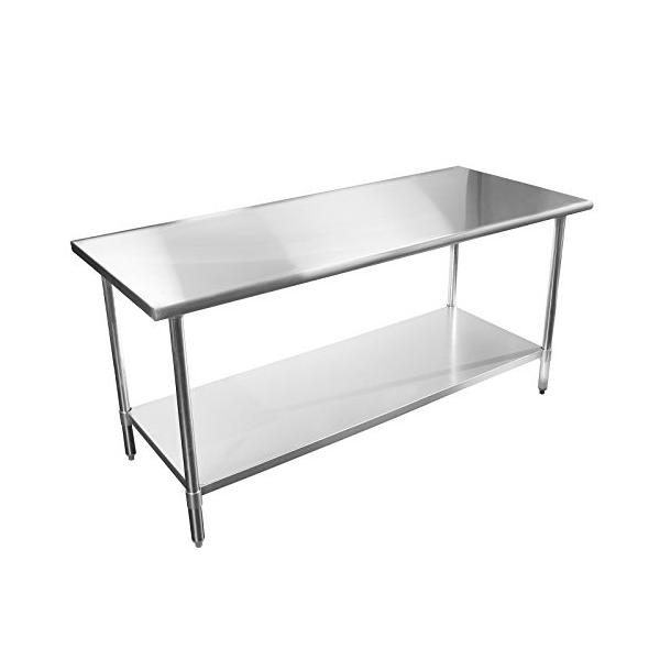 Commercial Stainless Steel Kitchen Work Table For Hotel / Restaurant Images