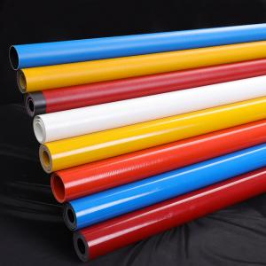China 1K Conical Colorful Braided Fiberglass Round Tube For Window Cleaning on sale