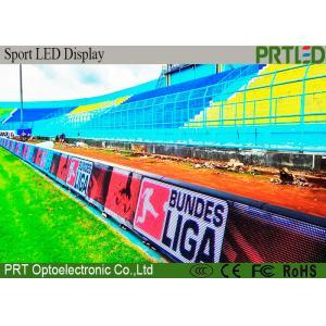 China Stadium Perimeter Electronic Football Scoreboard LED Screen P10 With Long Lifespan on sale