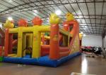 Inflatable Duck Kids Bouncy Castle ,  High Slide Castle Bounce House 12 X 5m