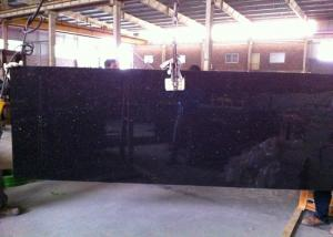 China Black Galaxy Granite Island Top / Granite Kitchen Tops With Sparkles 2 CM Thick on sale