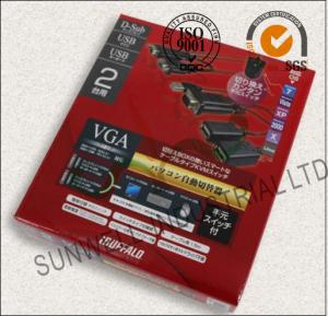 China Eco Friendly USB Electronics Packaging Boxes Courragate / Art Paper Hot Stamping on sale