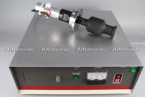 China 20Khz Ultrasonic Oscillator Transducer With Booster Flange Titanium Sonotrode on sale