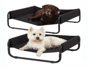 China 86x86x32cm Summer kennel cool breathable dog bed dog net cloth iron shelf bed moisture proof iron pet mat custom wholesale