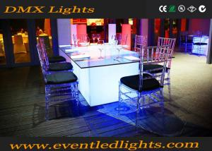 China Remote Control Led Decoration Catering Banquet Table Illuminated Furniture on sale