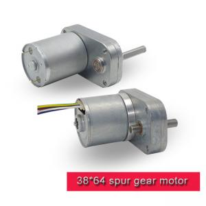 China 38mm * 64mm DC Spur Gear Motor / Brushless DC Motor With Carbon Brush on sale