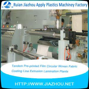 China Tandem Pre-printed Film Circular Woven Fabric Coating Line Extrusion Lamination Plants on sale
