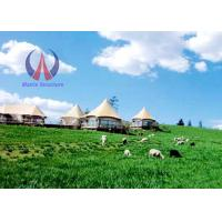Unique Design Luxury Tent Hotel With PVDF Fabric Sail Membrane Roofing Metal Frame