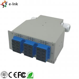 China 24 Ports Industrial DIN-Rail Fiber Patch Panel with 12 pcs SC/PC SM Duplex adapters on sale