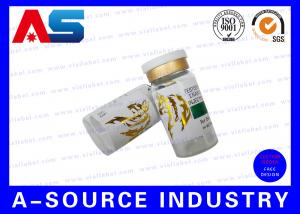 China Pharmaceutical Labels 10mL Glossy Gold Foil Embossing Printing Of Sterile Glass Vials on sale