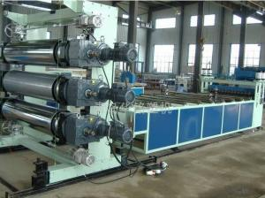 China PVC Plastic Sheet Making Machine , power Double screw Board Production Line on sale