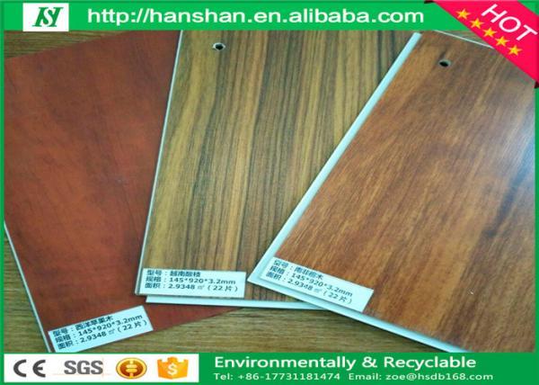 Eco Friendly Imitating Wood Interlocking Pvc Laminate Flooring With