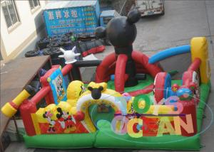 China Outdoor Playground Equipment Inflatable Bouncer Happy Hop Jumping Castle For Kids on sale